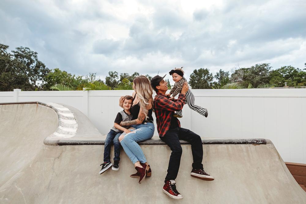 Naples Family Photographer, family at the skatepark