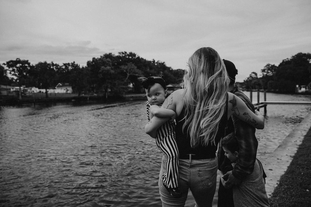 Naples Family Photographer, family next to river