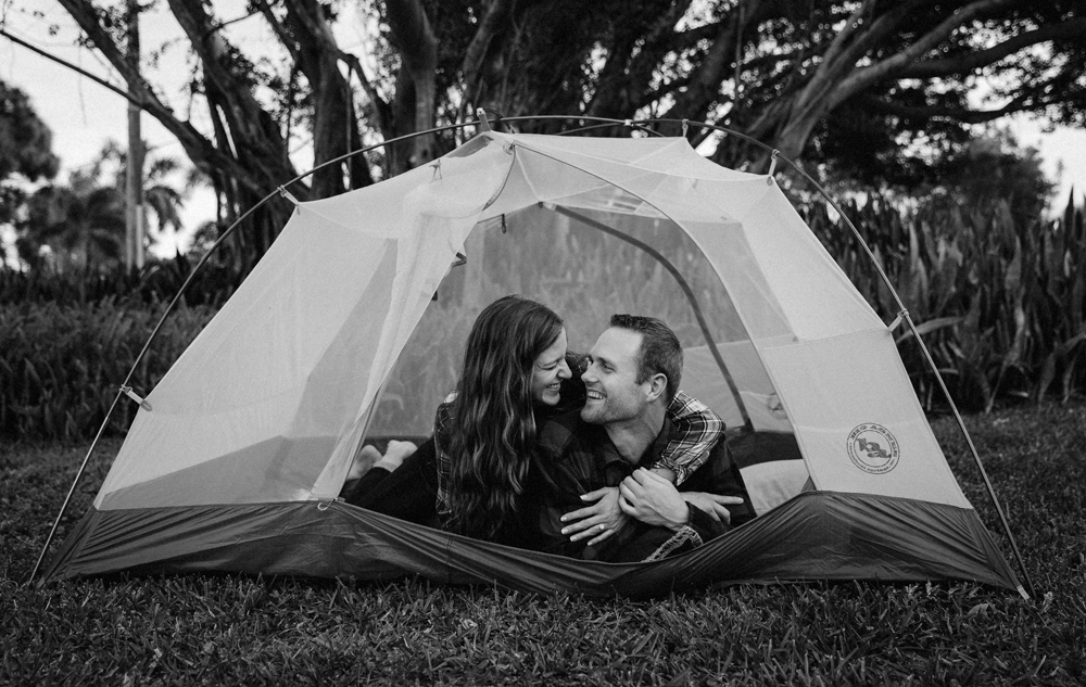 Naples Couples Photographer, laying in a tent