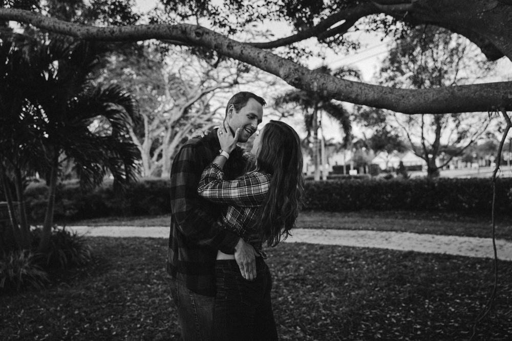 Naples Couples Photographer, couple standing under a tree