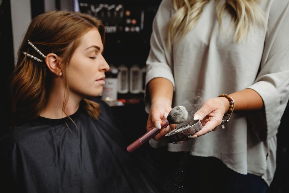 Naples Branding Photographer, women looking at makeup