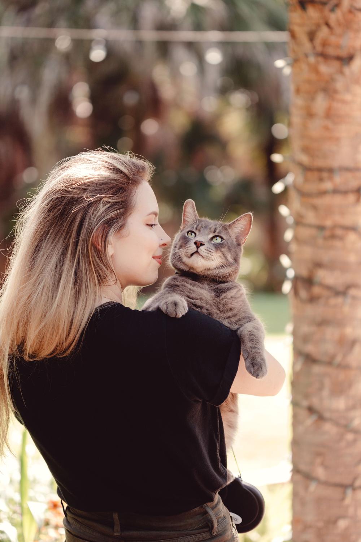 Naples Branding Photographer, woman holding cat
