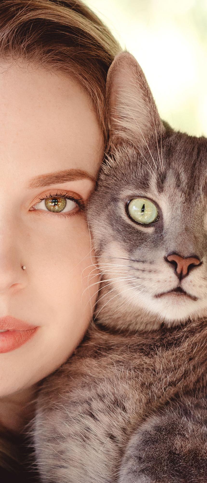 Naples Branding Photographer, woman and cat