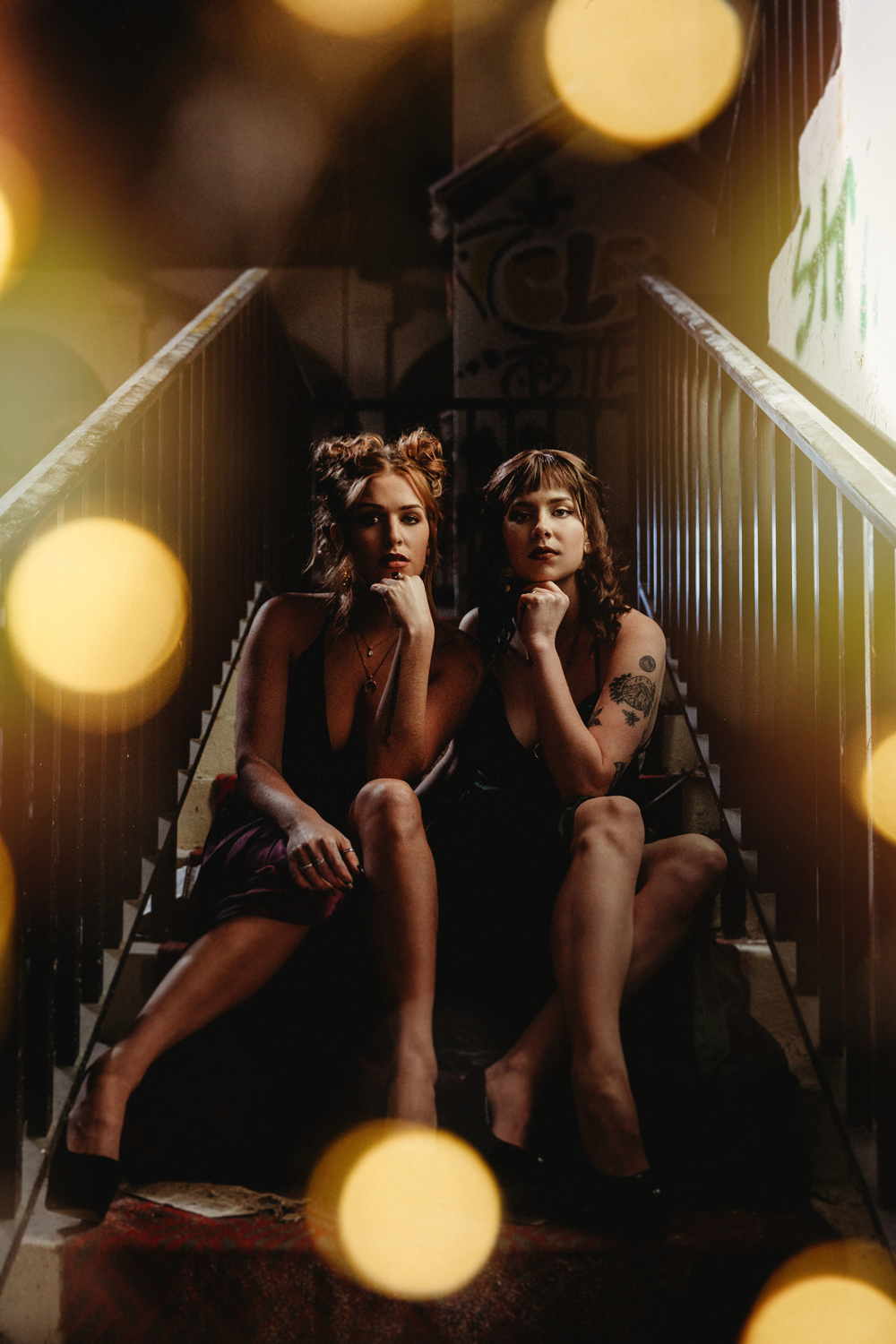Naples Branding Photographer, two women sitting on stairs together