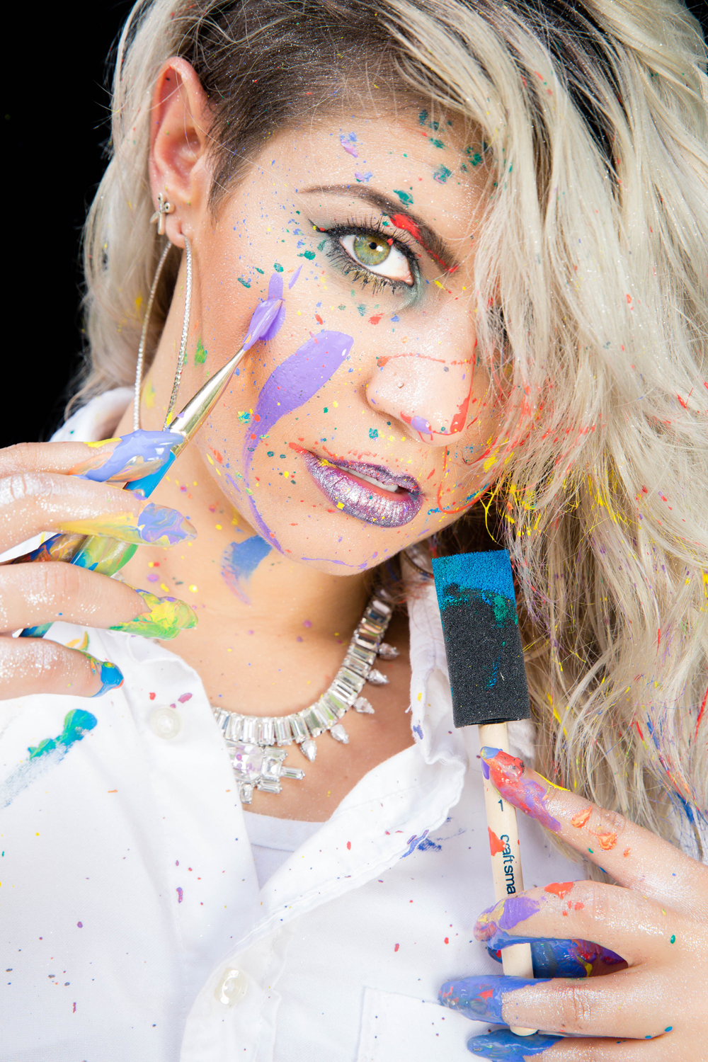 Naples Branding Photographer, woman with paint on her face
