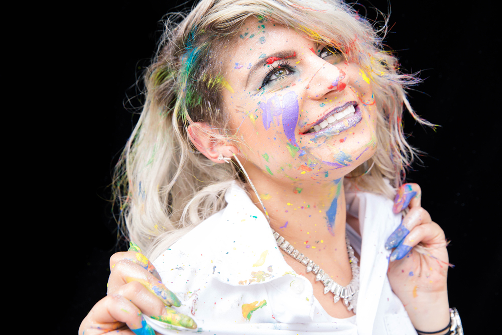 Naples Branding Photographer, woman covered in paint