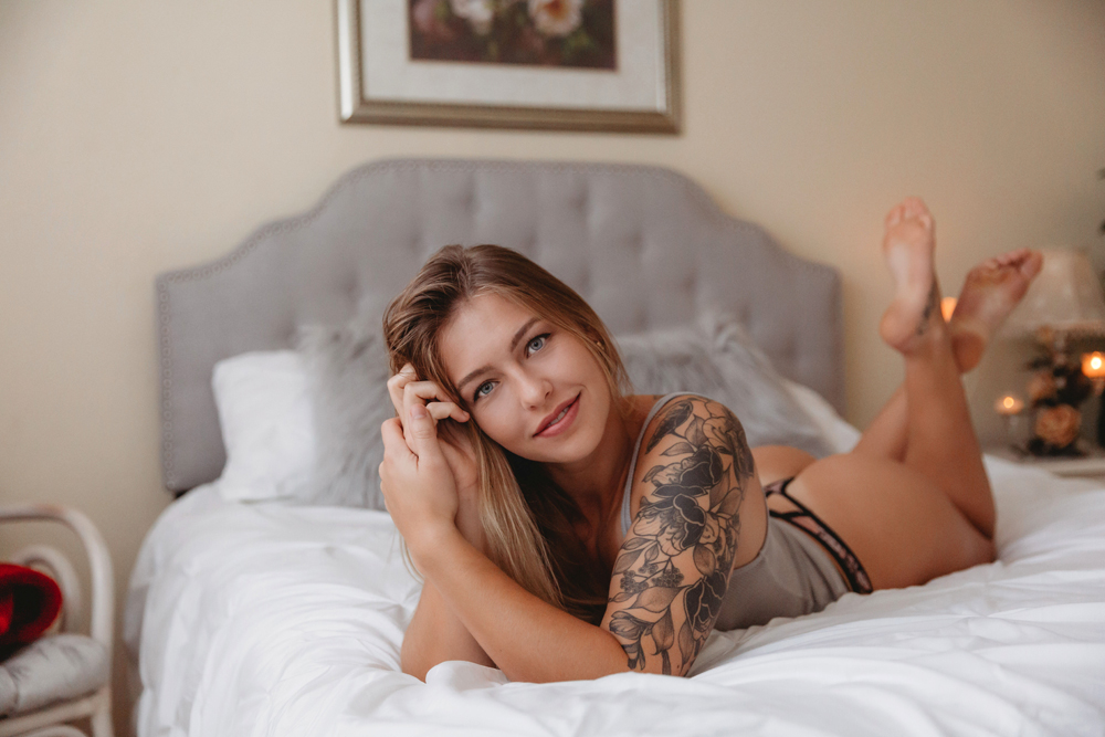 Naples Boudoir Photographer, woman laying on her stomach