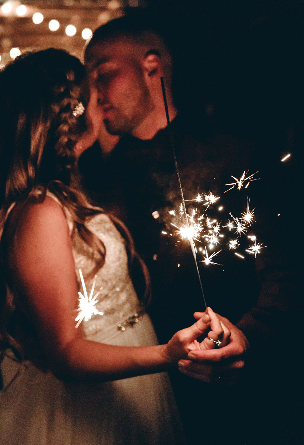 Naples Wedding Photographer, couple with a sparkler