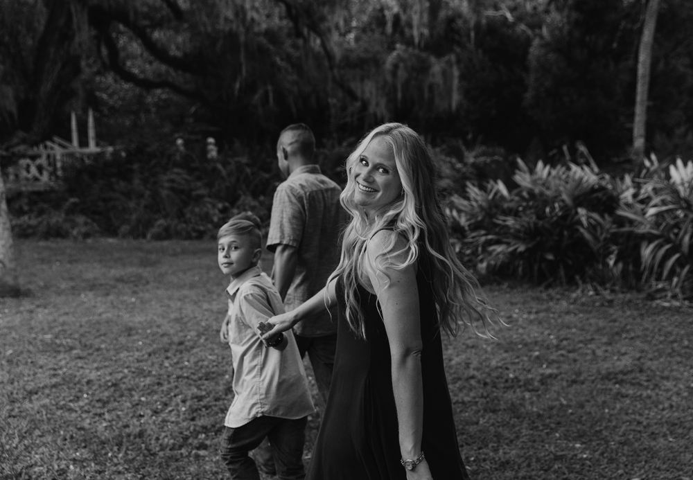 Naples Family Photographer, family walking hand in hand