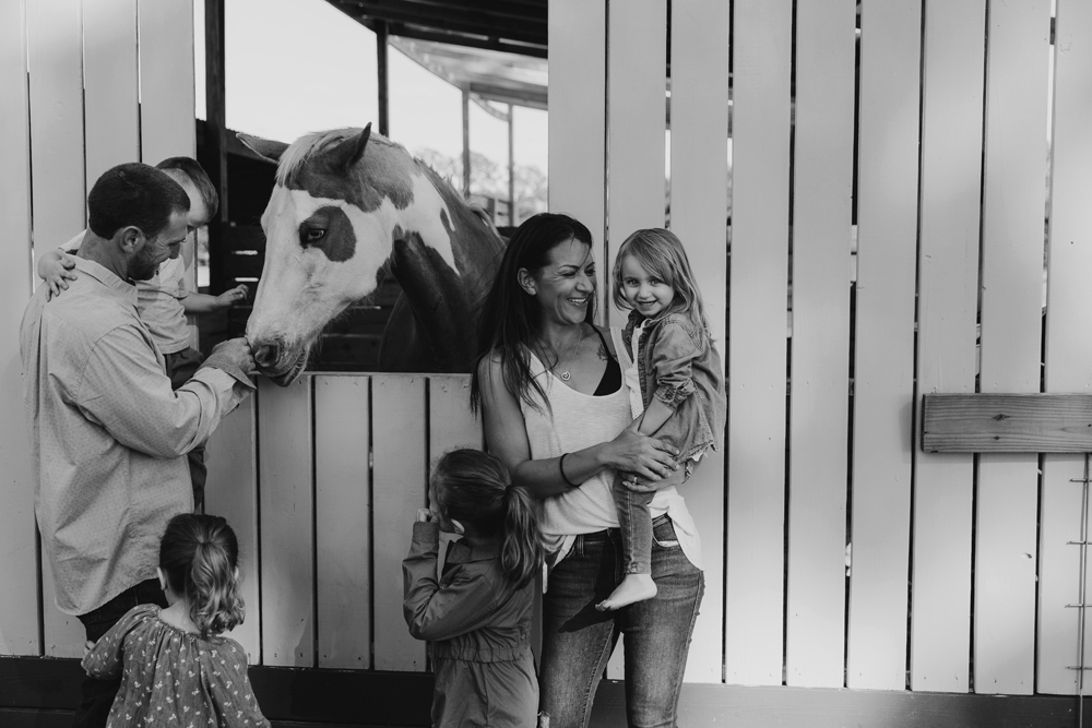 Naples Family Photographer, family with horse