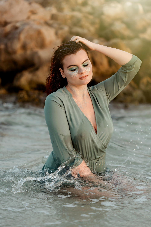 Naples Branding Photographer, man posing in water