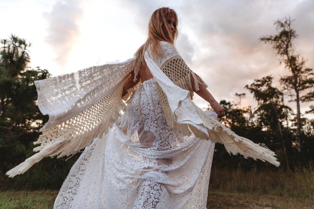 Naples Branding Photographer, woman in long white dress